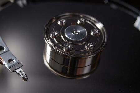 Hard disk scrap electronics  image closeup