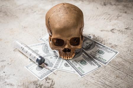 Drug Cocaine of the dead image Symbolic Stock Photo