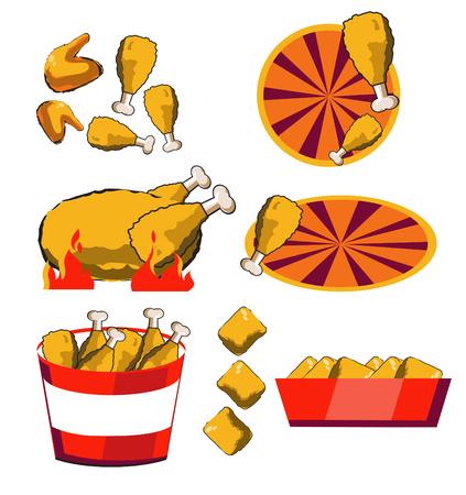 fire chicken vector design Illustration