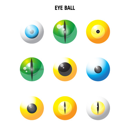 retina: eye ball vector on white background Illustration