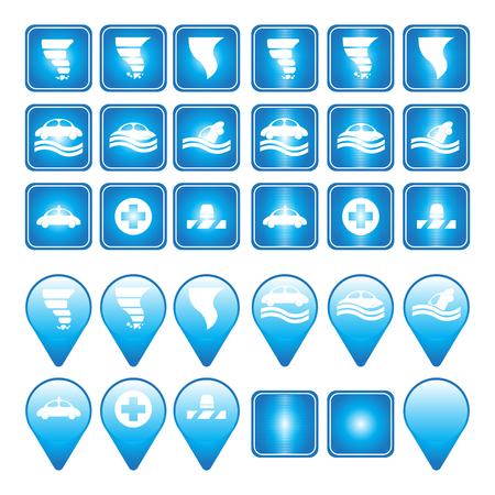 The hurricane storm vector icon