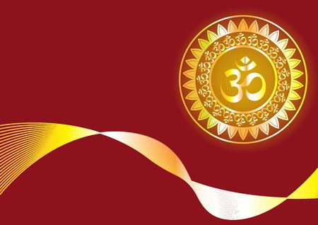 Hindu mantra writing Shree and Aum or Om vector design
