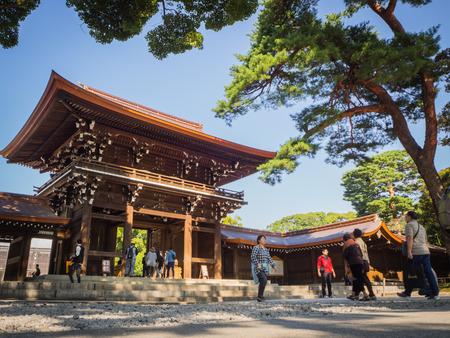 Meiji Shrine , Tokyo, Japan - OCTOBER 27 2017 :  located in Shibuya, Tokyo,