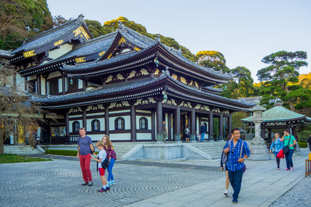 23 OCTOBER 2017 Hase-dera temple in  the city of Kamakura, Kanagawa Prefecture, Japan. Editorial