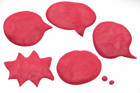 The balloon chat playdough image on white background .