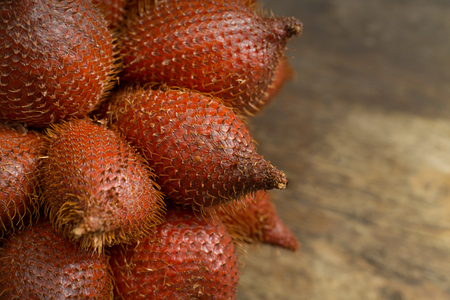 THE Salacca or salak fruit of asia close up image for background. Stock Photo