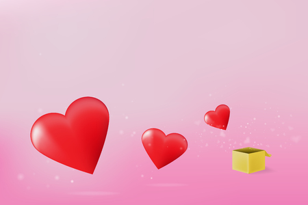 The gift for valentines day lovely sweet background ,card ,banner .