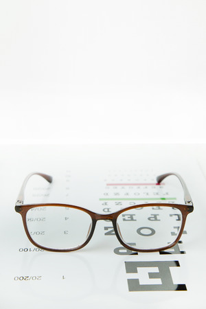 Diagram of checking eyes  glasses Optometry medical background.