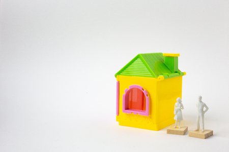home toy on white background  image close up. 스톡 콘텐츠
