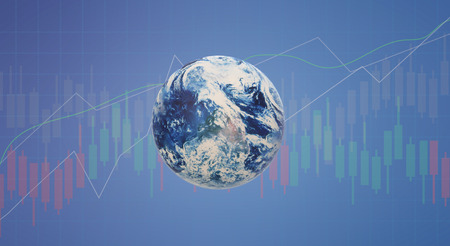 3d rendering world business background for business content. Reklamní fotografie