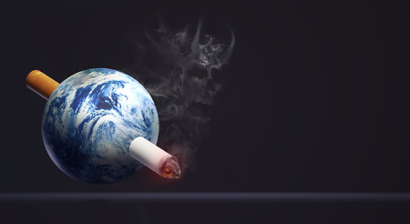 3d rendering world no tobacco day  image background. Stockfoto