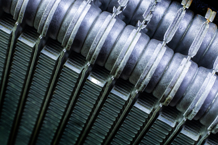 Air Conditioning Coils car close up texture image.
