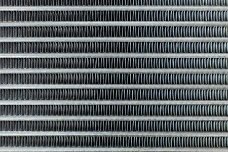 Air Conditioning Coils auto close-up textuur afbeelding. Stockfoto
