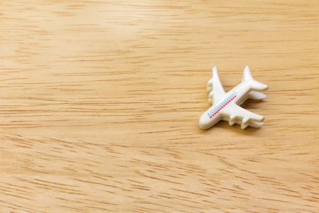The Airplane mini toy close up image  for travel content.