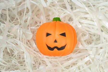 The pumpkin jack on Cushioning paper for  halloween content. Stock Photo