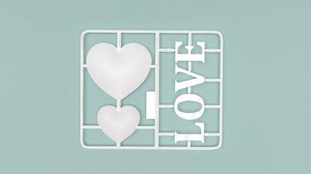 The love plastic kit  3d rendering for love concept. Stock fotó