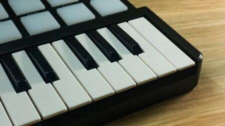 The  midi controller Sound Synthesizers device for music EDM producer.