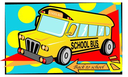 The school bus, vector for back to school concept. Фото со стока - 131679164