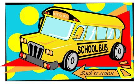 The school bus, vector for back to school concept. Иллюстрация