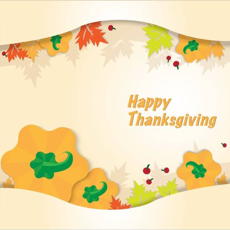 The Thanksgiving day vector for holiday concept.