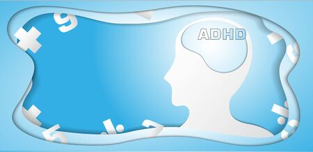 The ADHA  vector image for medical content.