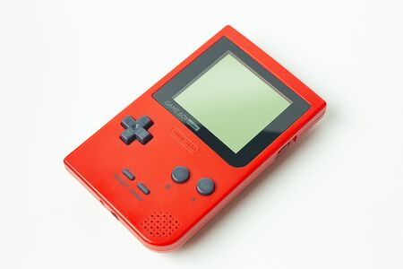 Bangkok  Thailand  13 January  2020 nintendo game boy pocket portable console  on white background. 報道画像