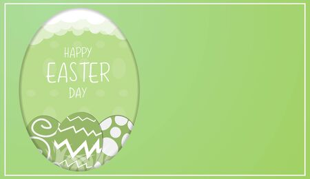 The Easter eggs vector image for holiday content.