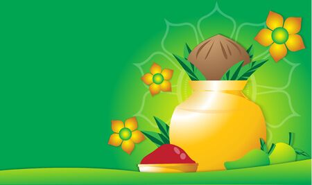 The ugadi  indian festival vector image for holiday content.