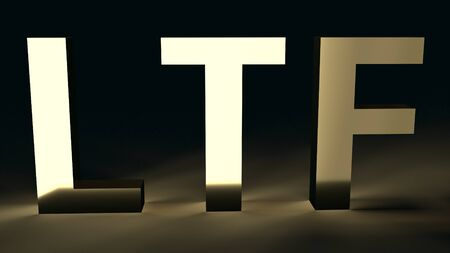 The Lte text in dark tone  3d rendering for business content.