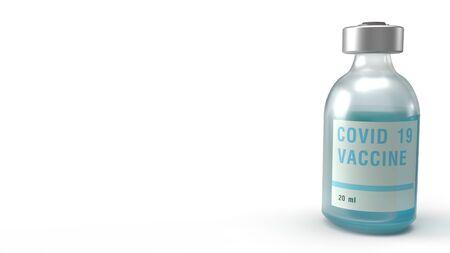 The covid 19 vaccine 3d rendering for medicine content. Reklamní fotografie