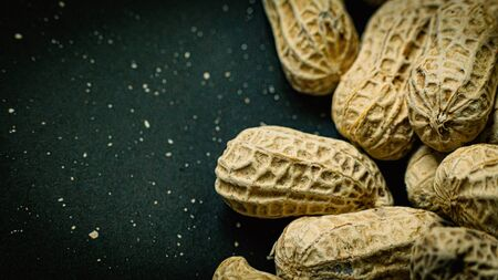 The peanuts in a shell texture  for food content. Stockfoto