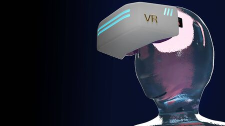 The Virtual reality   headset  it equipment 3d rendering for technology content.