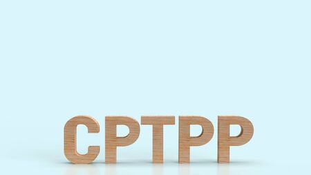 cptpp or Comprehensive and Progressive Agreement for Trans Pacific Partnership 3d rendering for background