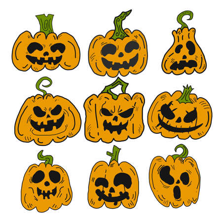 The jack o lantern  face for halloween content vector image.