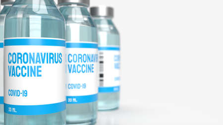 The vaccine covid 19 for medical content 3d rendering. Stock fotó
