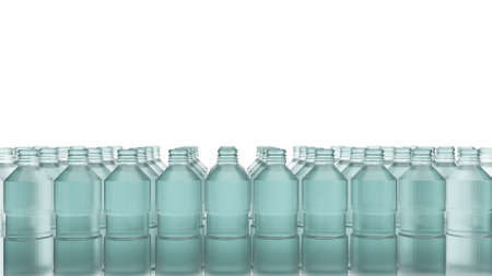 The plastic bottle for recycled content 3d rendering.