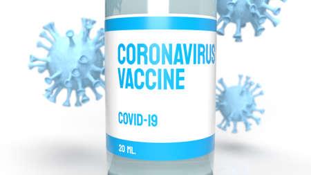 The vaccine coronavirus for medical content 3d rendering. Stock fotó