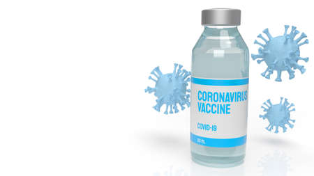 The vaccine coronavirus for medical content 3d rendering. 免版税图像