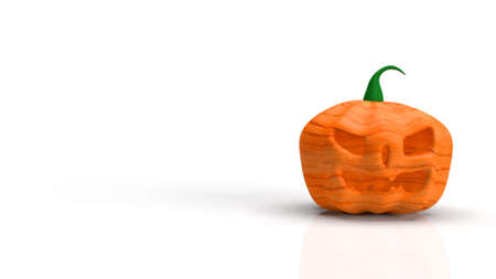 The  jack o lantern on white background for halloween content 3d rendering. 免版税图像