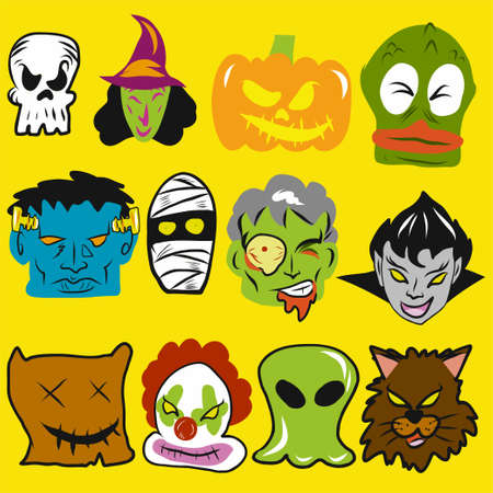 The halloween  monster collection vector for holiday content.