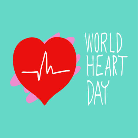 The vector image for world heart day holiday content.