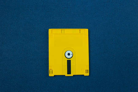 The diskette for disk system vintage technology image top view. 写真素材