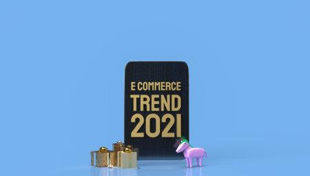 gold e commerce front tablet for online marketing 3d rendering.