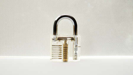 master key on white background for security content
