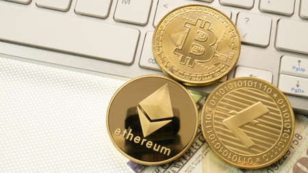 gold coins  cryptocurrency  for digital money  content. 写真素材