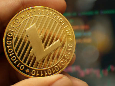 gold Lite coin  crypto currency  for business content.