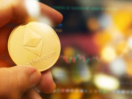 gold  ethereum coin for digital money  content.