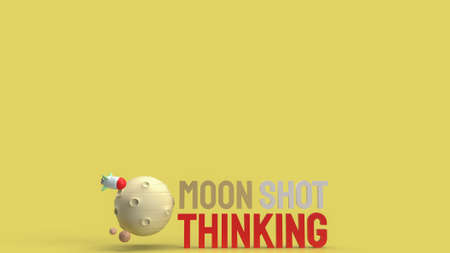 moon and text  moon shot thinking for  business content 3d rendering. 写真素材