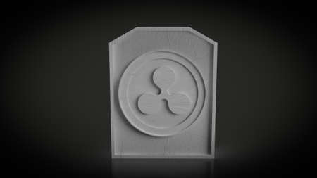 ripple gravestone for business content 3d rendering