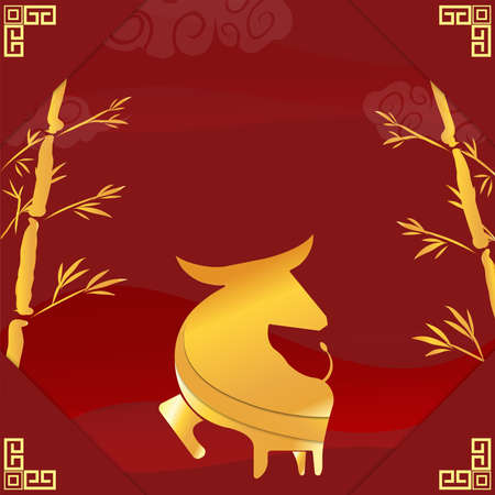 The golden cow for Chinese New Year 2021 for holiday content.